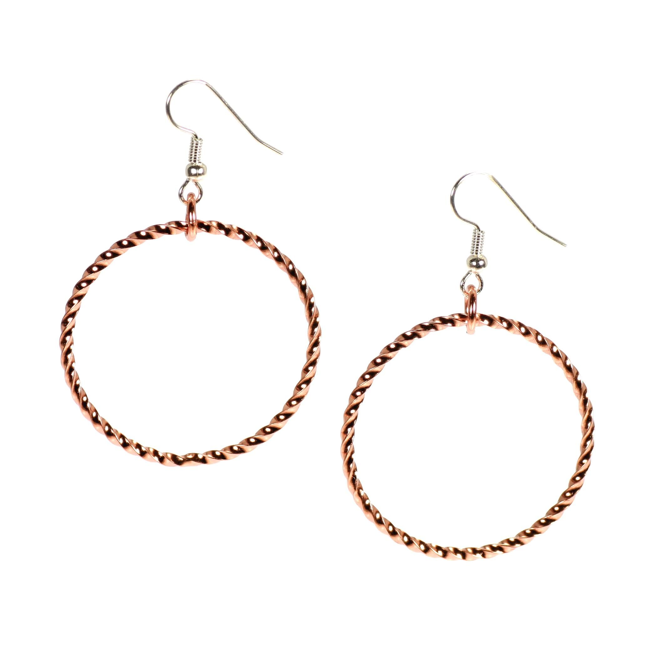 1de22ad31 Over 20% OFF Superb Copper Cable Hoop Earrings Listed on #Amazon #Copper  http