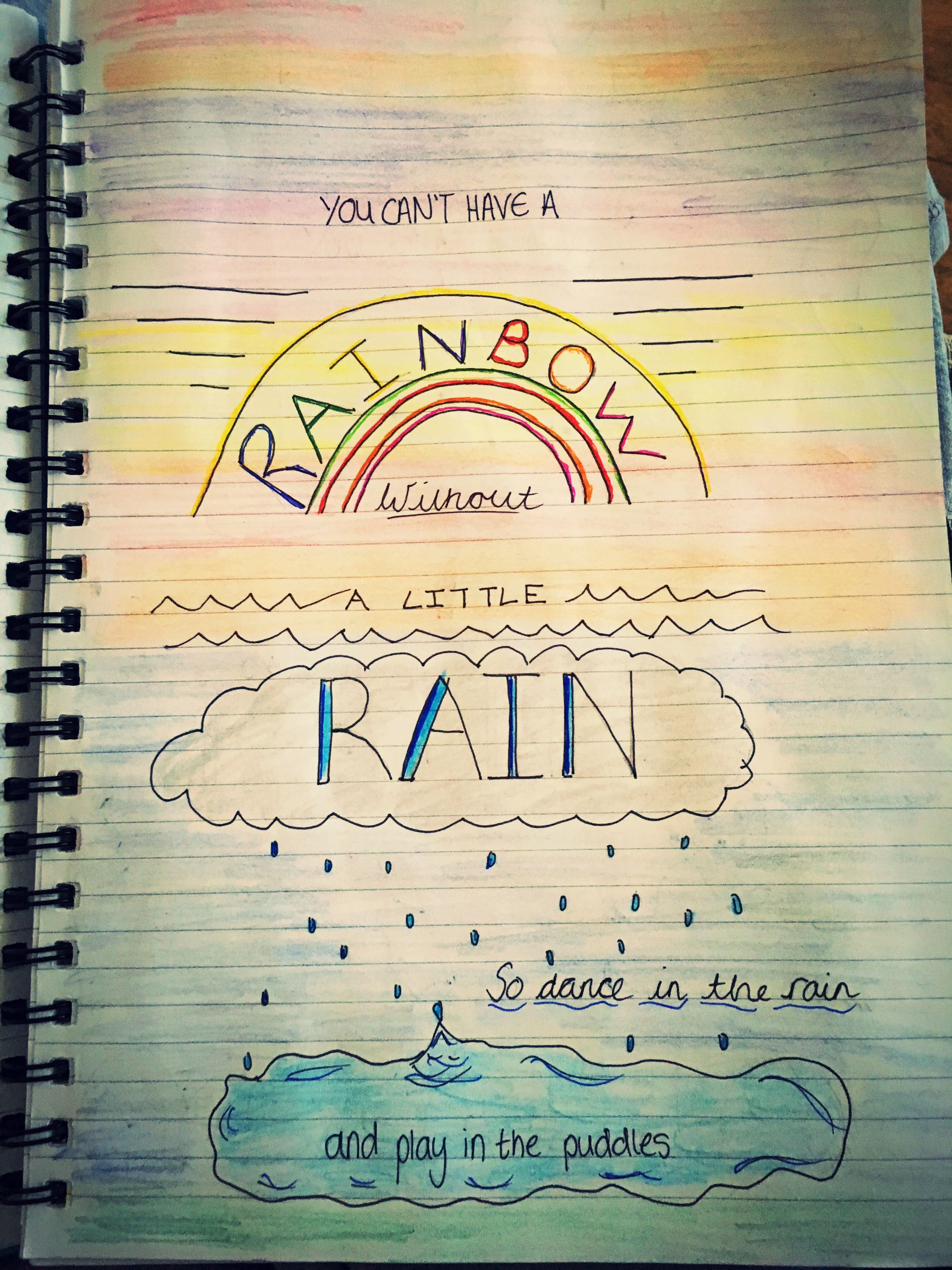Quotes Journal Impressive Rain Quotebullet Journal Page  Bullet Journal  Pinterest
