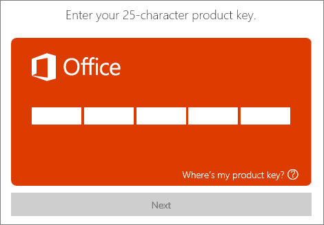 installing microsoft office with product key