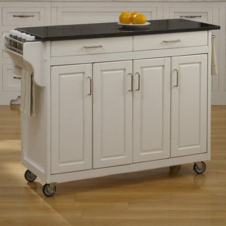 home styles create a cart kitchen island with granite top kitchen