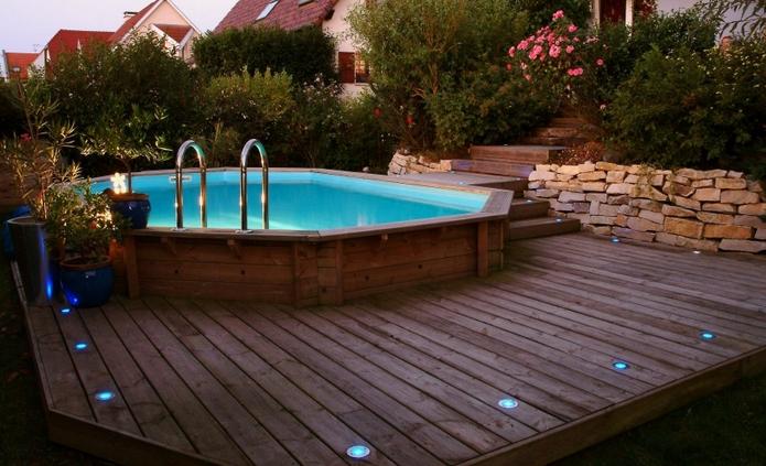 piscine hors sol imitation bois exterieur. Black Bedroom Furniture Sets. Home Design Ideas