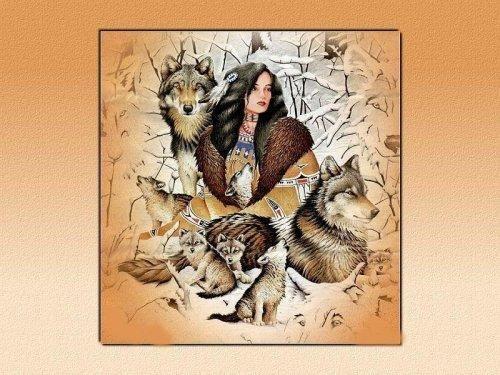 """Gallery.ru / Фото #1 - Волчица - Tempesta --- visit site or my board """"Cross Stitch - Native American"""""""