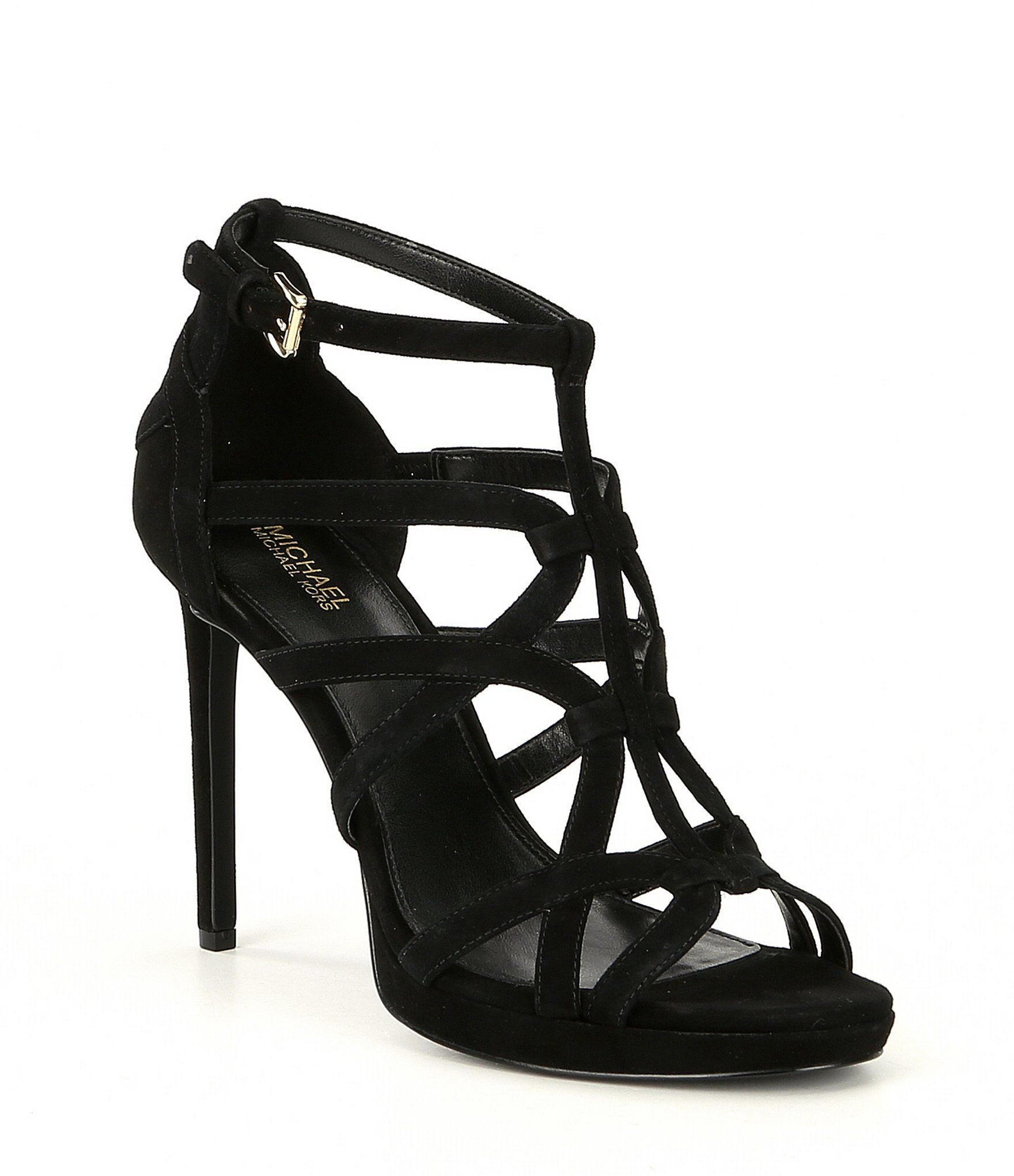 a2a0178349bc MICHAEL Michael Kors Sandra Suede Caged Platform Dress Sandals  Dillards