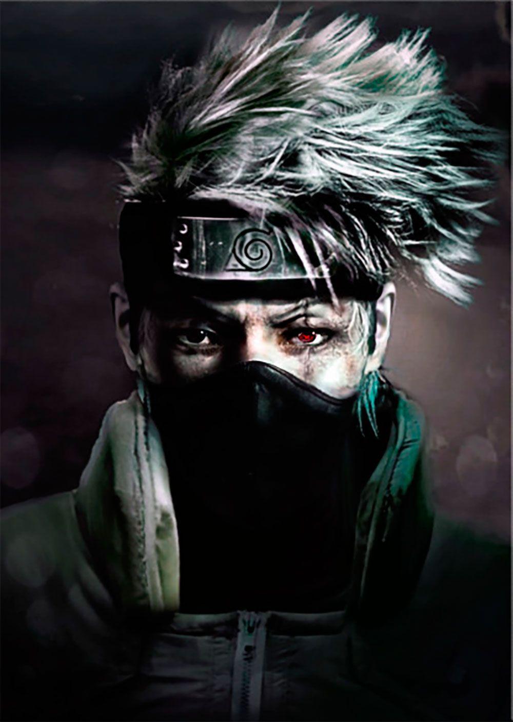 Naruto kakashi hatake real life metal poster anime