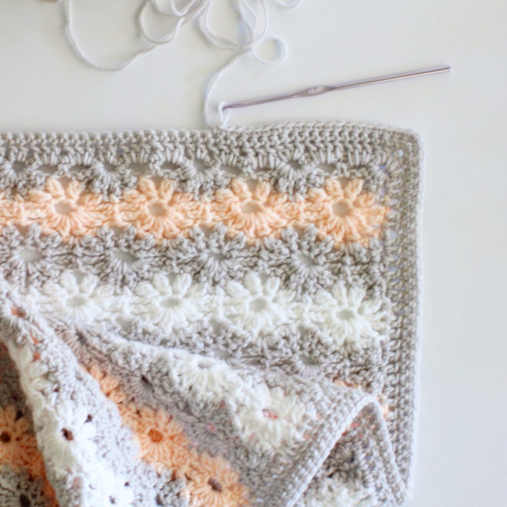 Crochet Petal Stitch Baby Blanket - Daisy Farm Crafts free pattern ...