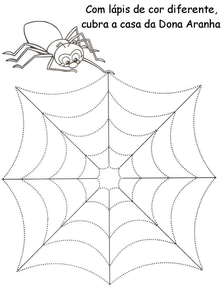 spider trace line worksheet (1) | halloween | Pinterest ...