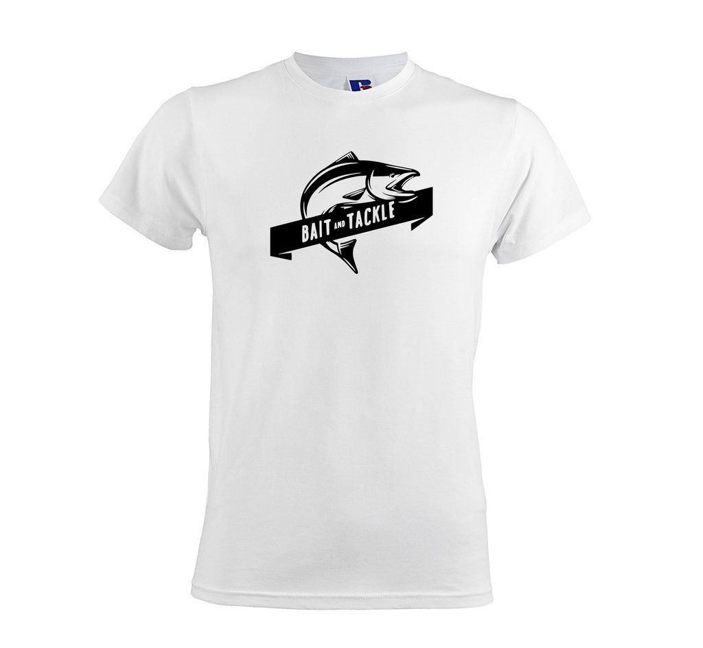 0d531394 Bait And Tackle Men's Soft Touch T-Shirt white top fishing gift tshirt  get2wear