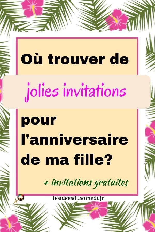 Invitations anniversaire petite fille en 2020 | Invitation anniversaire, Invitation anniversaire ...