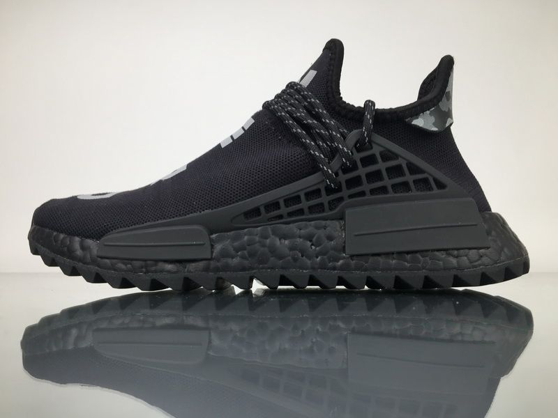 a5c48dde1968 Adidas Originals NMD Human Race Pharrell Williams All Black N·E·R·D for  Sale 01