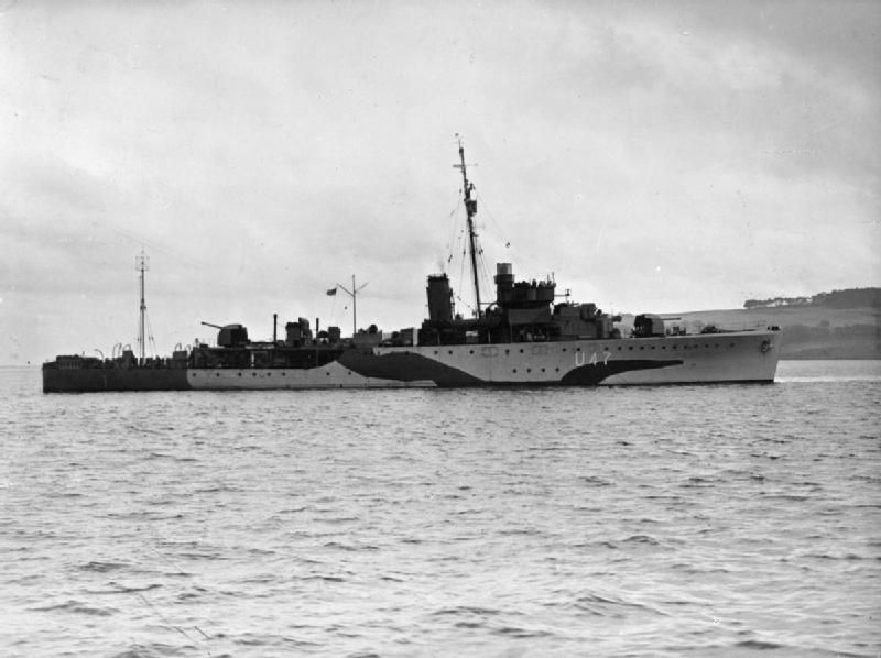 HMS Fleetwood L47 11 May 1943 German U-boat U-528 was sunk in the North Atlantic south-west of Ireland, in position 46°55'N, 14°44'W, by depth charges from a British Handley Page Halifax aircraft (Sqdn. 58/D) and by depth charges from the British sloop HMS Fleetwood (Cdr. W.B. Piggot, OBE, RNR).