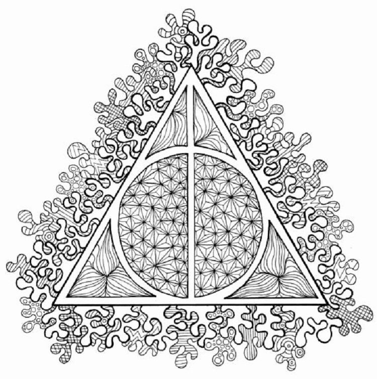 Harry Potter Coloring Pages Deathly Hallows Check More At Coloringareas