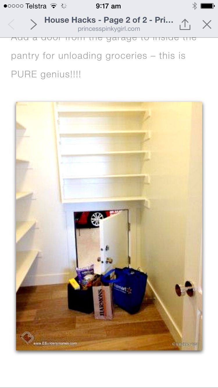 Build ideas entry to pantry from garage shoppers secret