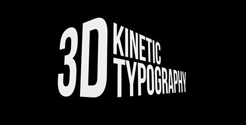 VideoHive 3D Kinetic Typography Titles Project for After Effects ...