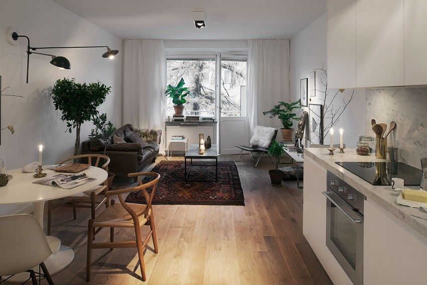 Scandinavian Design Cozy One Bedroom Apartment In Stockholm Small Apartment Interior Apartment Interior Design Small Apartment Design