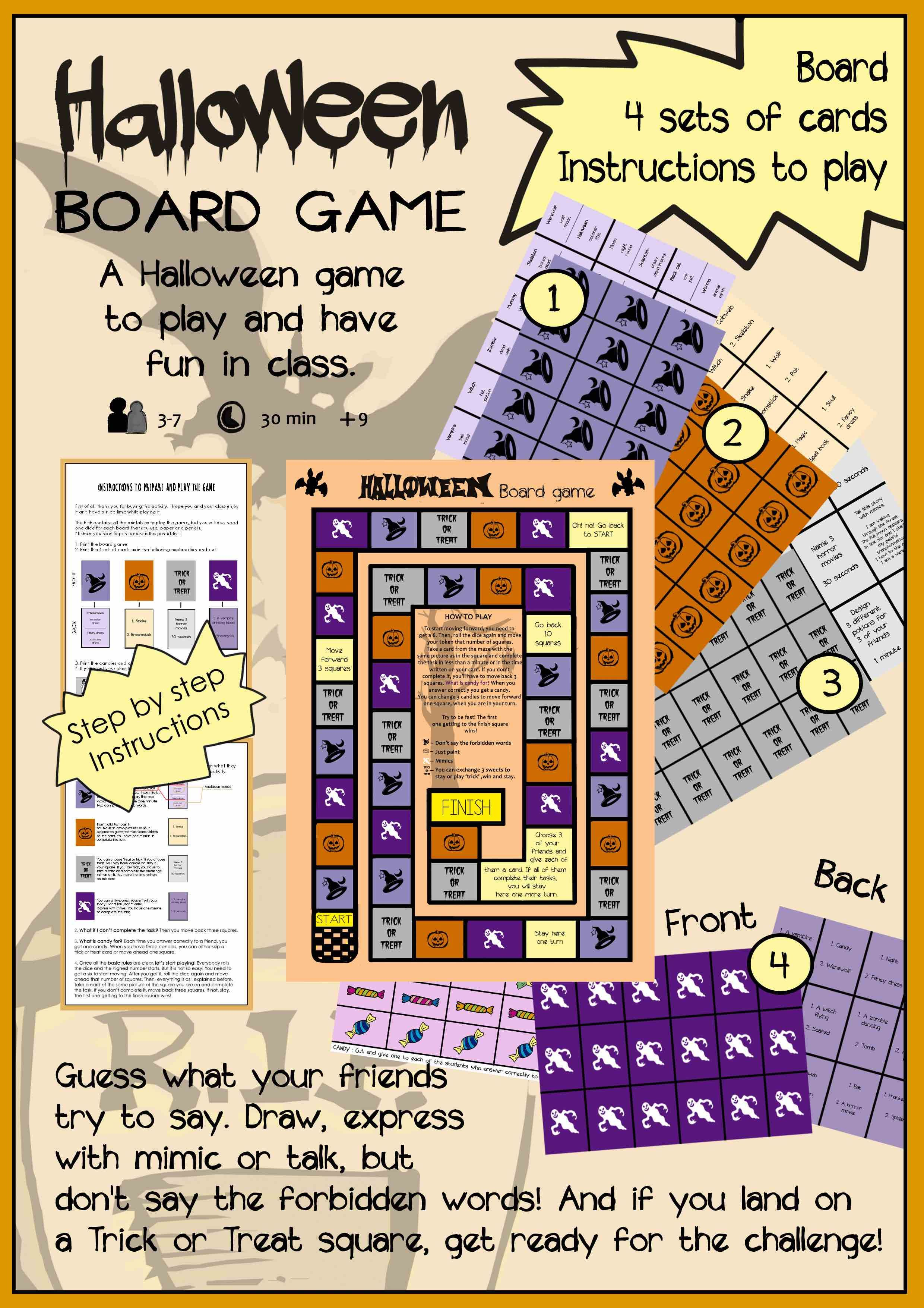 Halloween Board Game Halloween board game, Board games