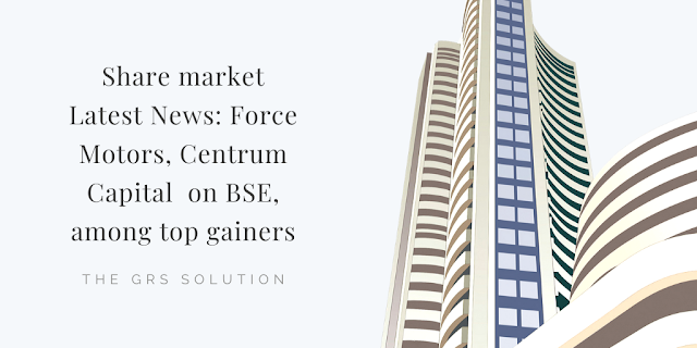 Share Market Latest News Force Motors Centrum Capital On Bse Among Top Gainers In 2020 Share Market Investment Advisor Stock Trading