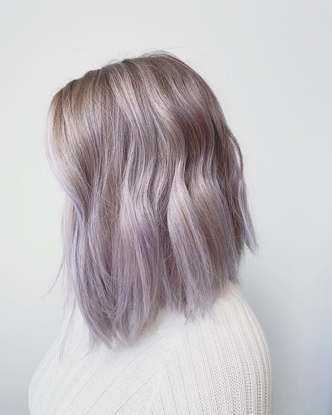Metallic lilac hair