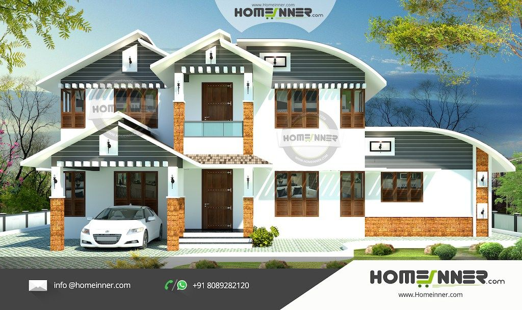 Home Designers Elevation Design Indian Home Design Naksha Design Bedroom Modern Sq Ft Villa Architectural House Plans Kerala House Design Beautiful House Plans
