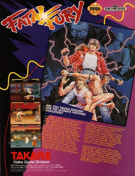 Video Game Ad Of The Day Fatal Fury Arcade Video Games Fighting Games Retro Video Games