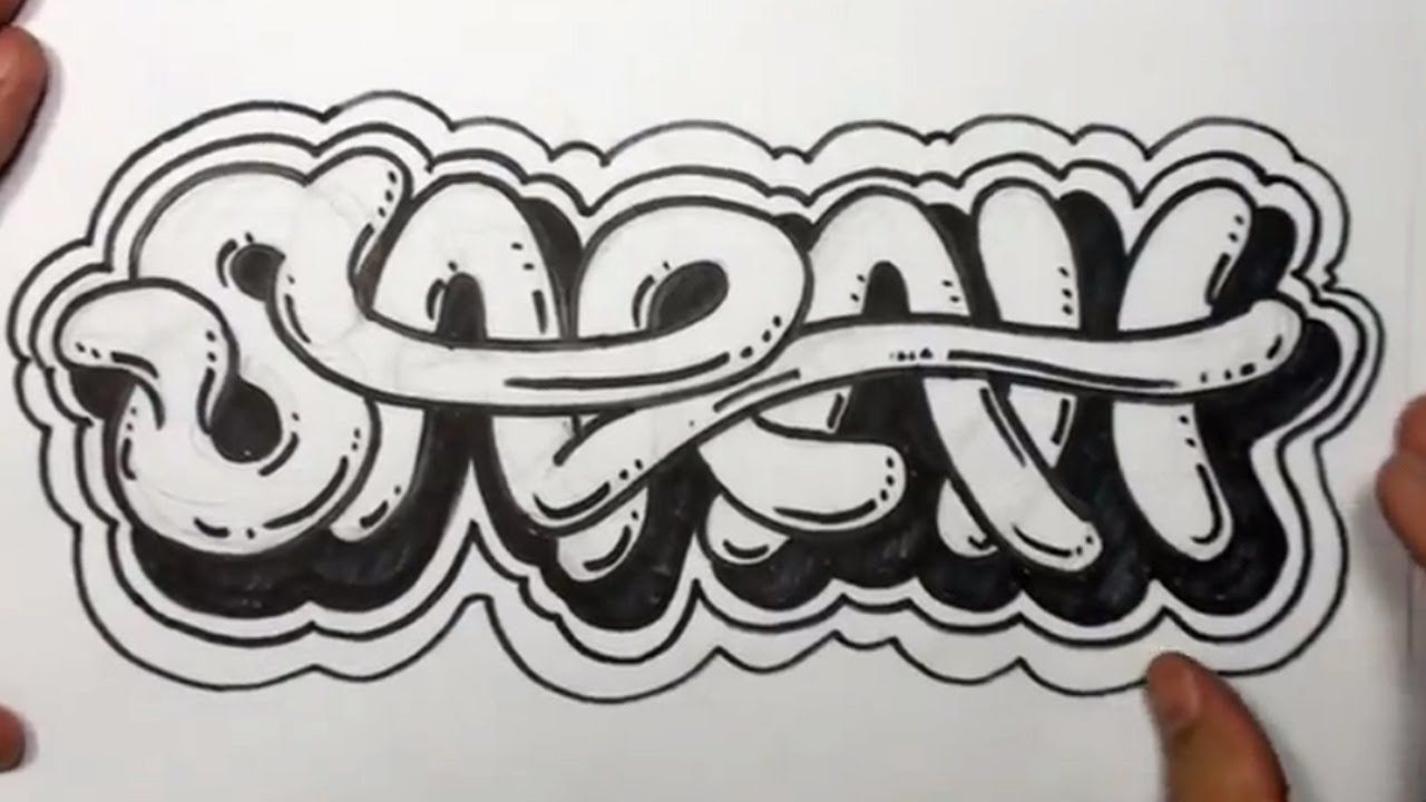 How to draw graffiti letters write sarah in cool letters