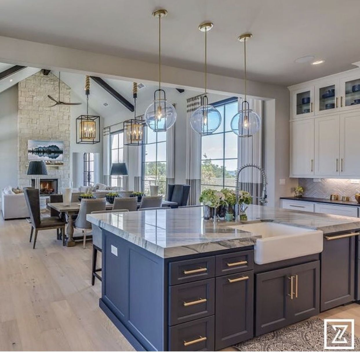 How I Picture The Kitchen Opening Up Into The Living Room Facing Fi Open Concept Kitchen Living Room Open Kitchen And Living Room Open Plan Kitchen Living Room