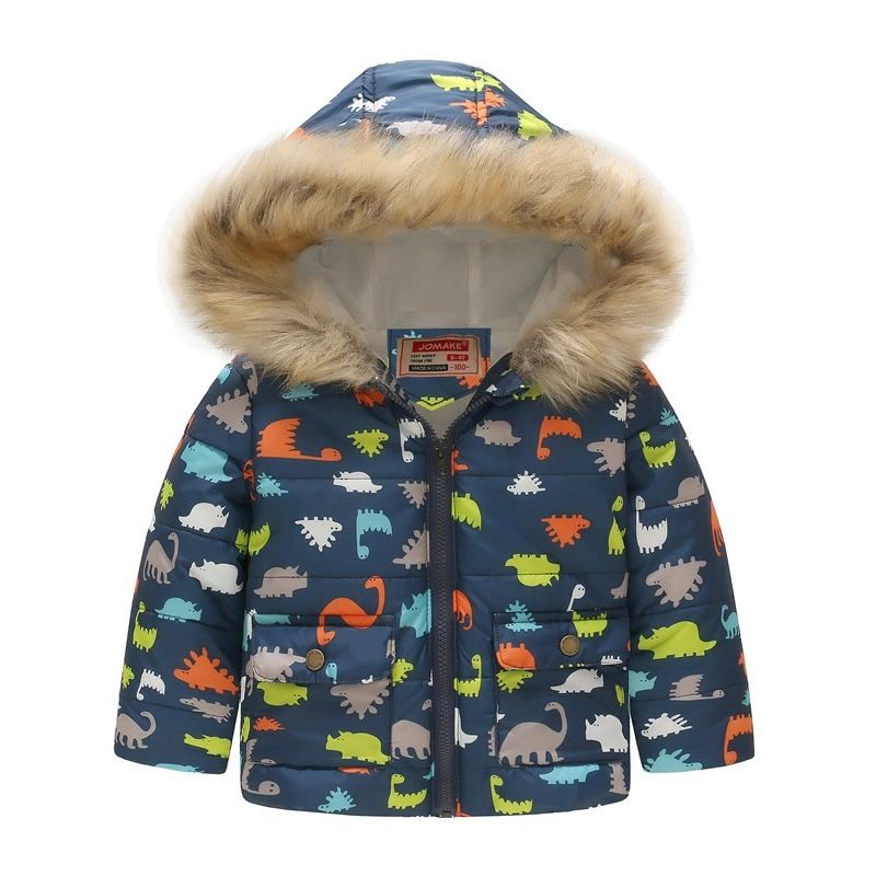 Toddler Baby Winter Warm Jacket Floral Outerwear Snowsuit Hooded Windproof Coats Winter Snow Wear Kids Clothes