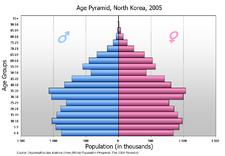 Population Pyramid Of North Korea Korean Reunification North