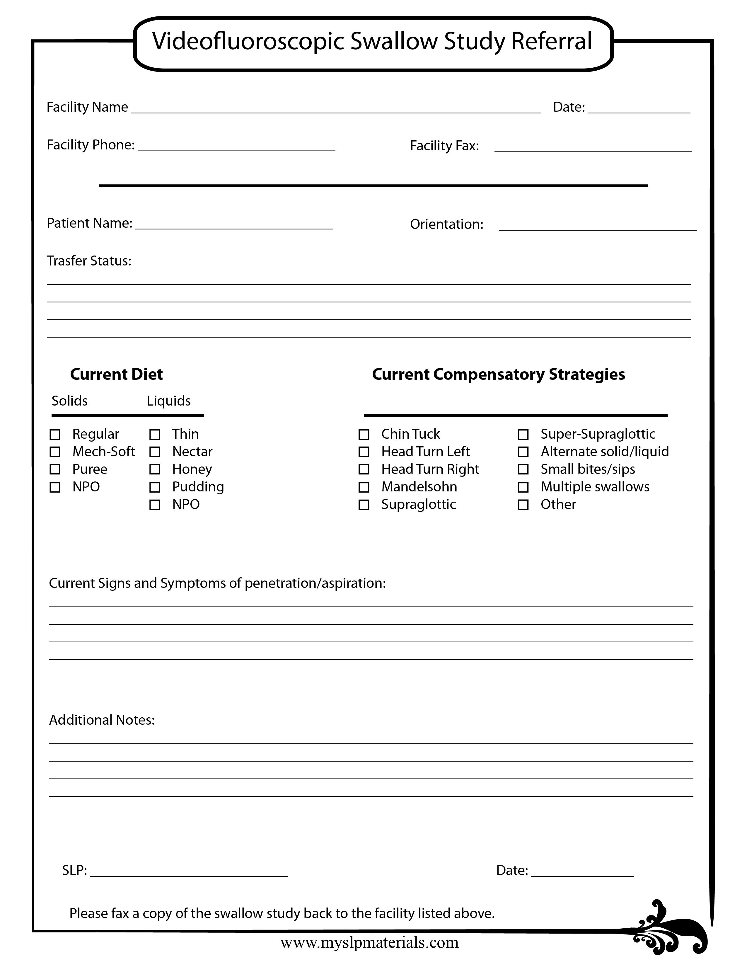 Handout Free Water Protocol Speechlanguage Therapy