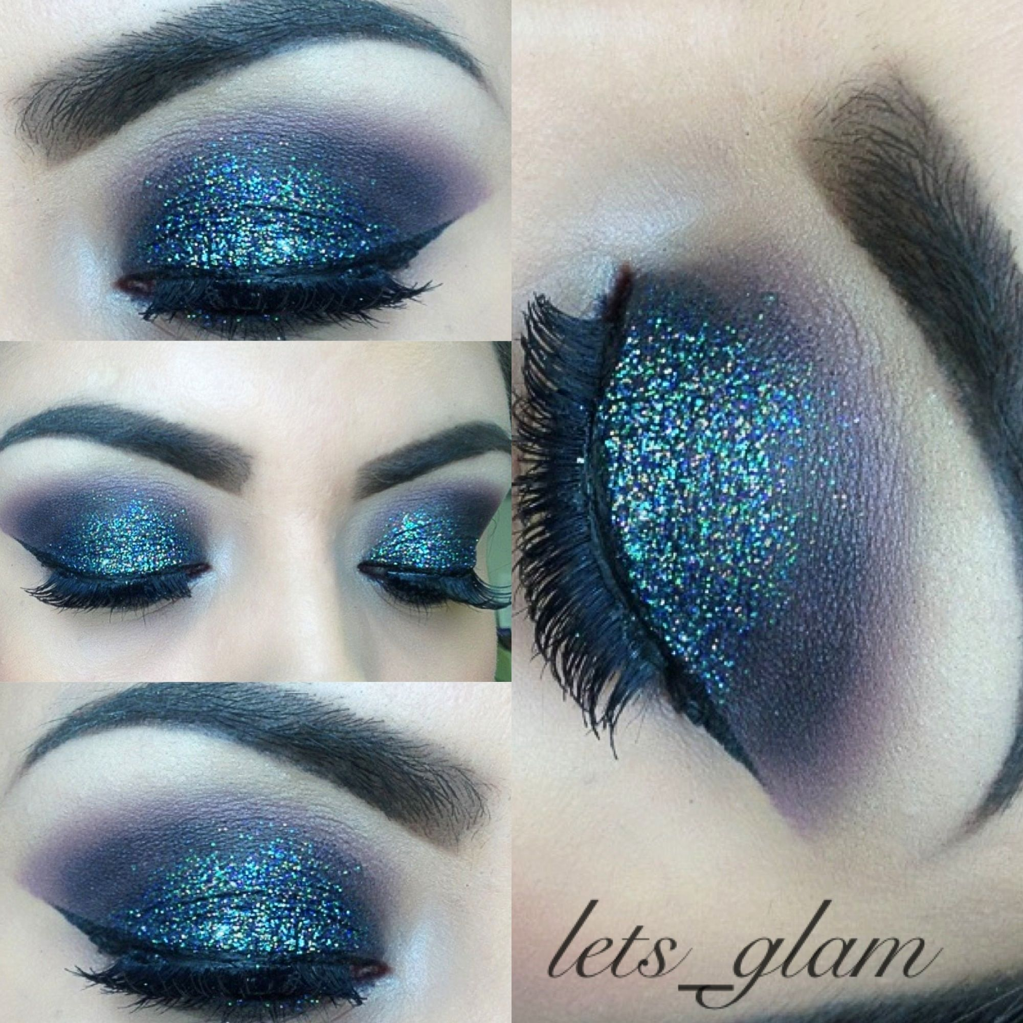 NYX black glitter by lets_glam Eye makeup, Makeup