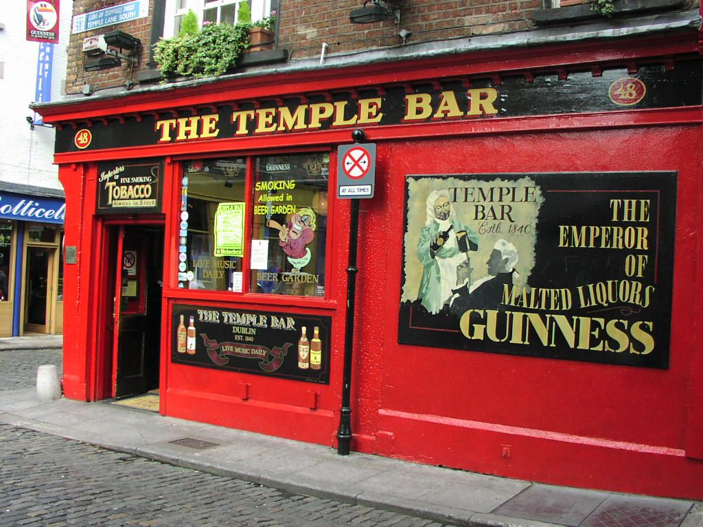 The Temple Bar Pub Front Temple Bar Dublin Temple Bar Pub