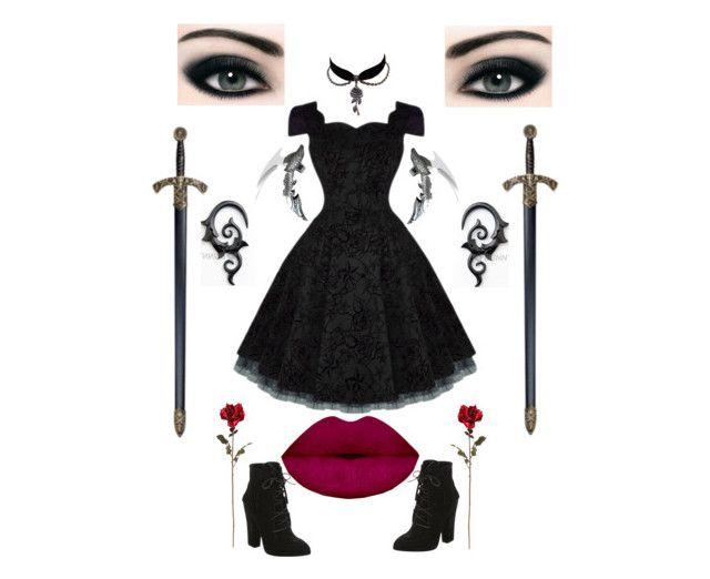 """""""Face"""" by jinx-the-nerd ❤ liked on Polyvore featuring Giuseppe Zanotti"""