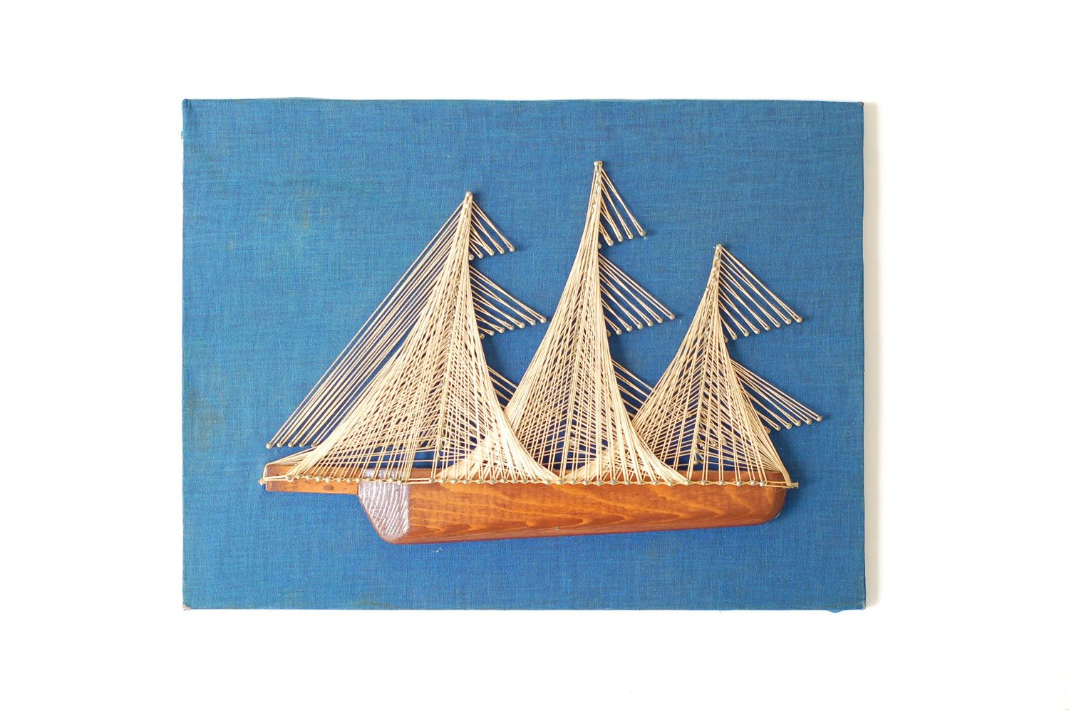 Nautical Ship - Nail & String Art | Nail string art, String art ...