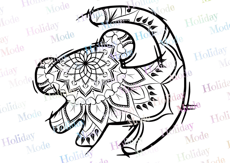 Disney The Lion King Simba Mandala Disney Svg Print Your Own