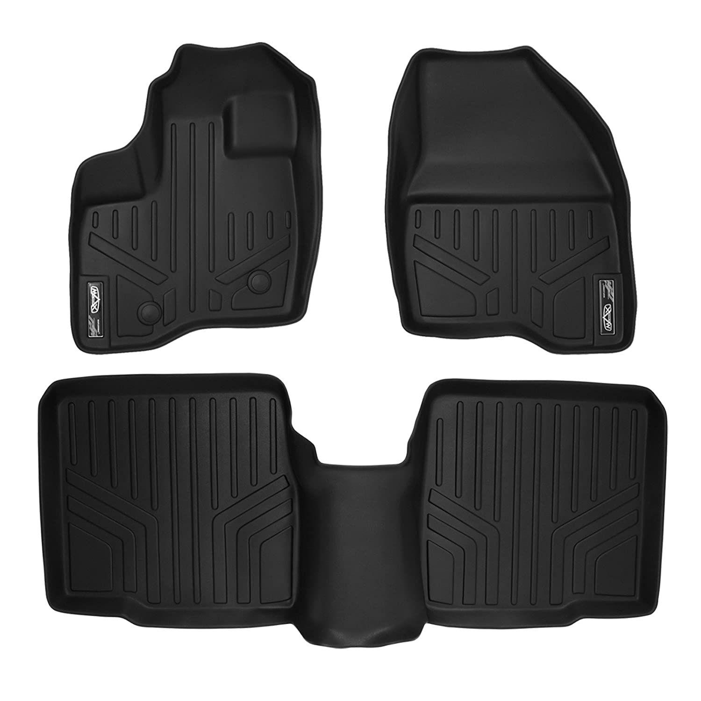 Smartliner Floor Mats 2 Row Liner Set Black For 2011 2014 Ford