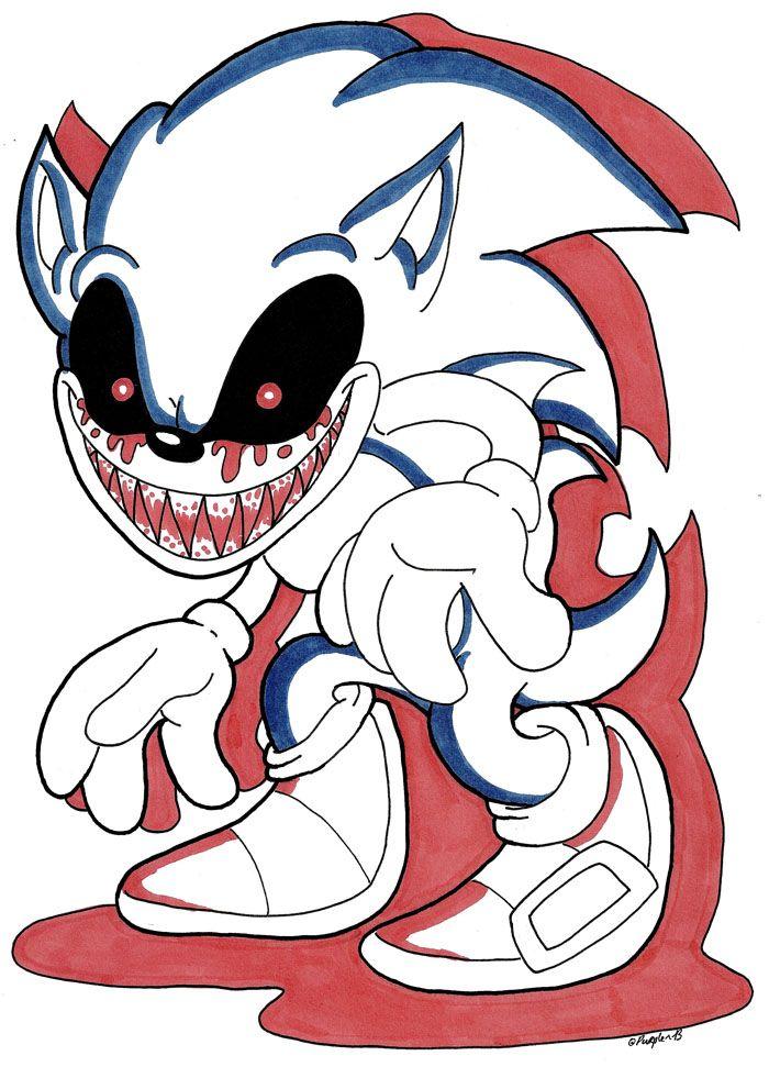 Sonic.EXE | Fandoms | Pinterest | Creepypasta, Creepypasta videos ...