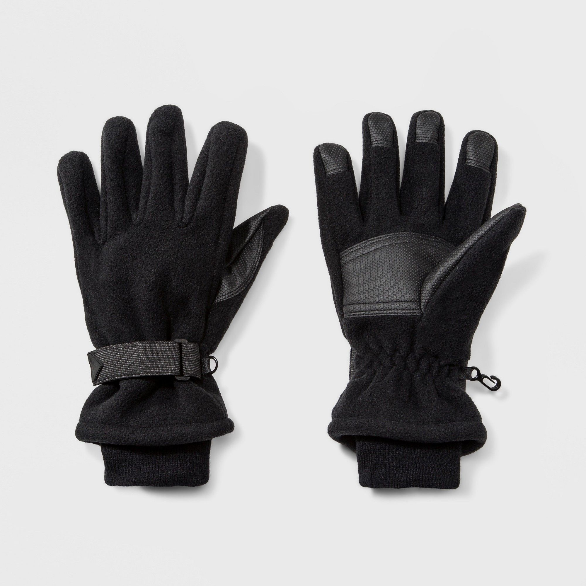 30114f7b5 Men's Wind Proof Fleece Glove With Knit Cuff Gloves - Goodfellow & Co Black  XL