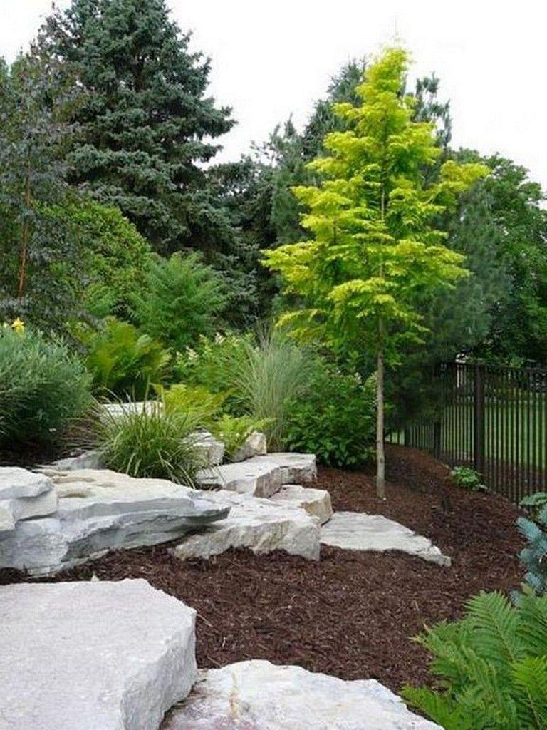 23+ Beauty Charming Large Yard Landscaping Design Ideas #frontyardlandscapedesign