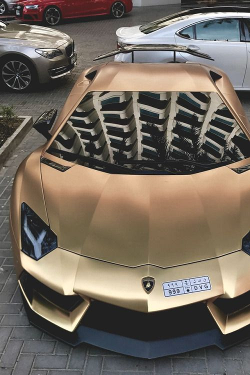 Matte Golden Lamborghini Aventador By K Cars