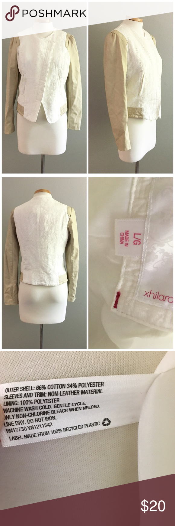 "NWOT Cream White Faux Leather Moto Button Jacket NWOT Cream White Faux Leather Moto Button Jacket. Size large. Thank you for looking at my listing. Please feel free to comment with any questions (no trades/modeling).  •Fabric: Cotton Blend  •Bust: 42""  •Condition:  NWOT!   25% off all Bundles or 3+ items! Reasonable offers welcome. Visit me on INSTA @reupfashions. KA Xhilaration Jackets & Coats"