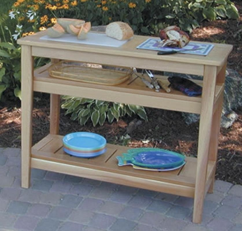This Outdoor Serving Table Plan Is Available On The Kreg Pocket Hole Plans Cd
