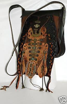 Leather Handbag, Unique Steampunk Tribal Design, Individualy Handcrafted Steam Punk – SteamPunk.com