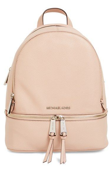 a719807dd98d MICHAEL Michael Kors 'Small Rhea Zip' Leather Backpack available at # Nordstrom