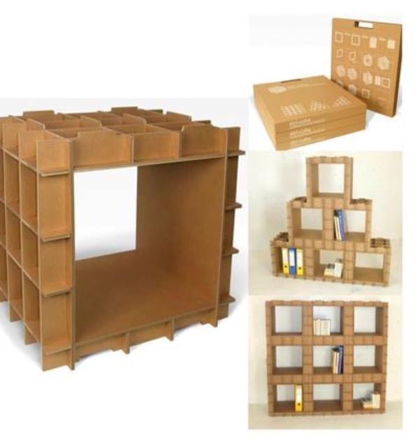 Module De Rangement En Carton Stri Cube De L Atelier Chez Soi Rangement Carton Etagere En Carton Meuble En Carton