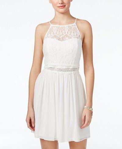 Winter White Dresses for Juniors