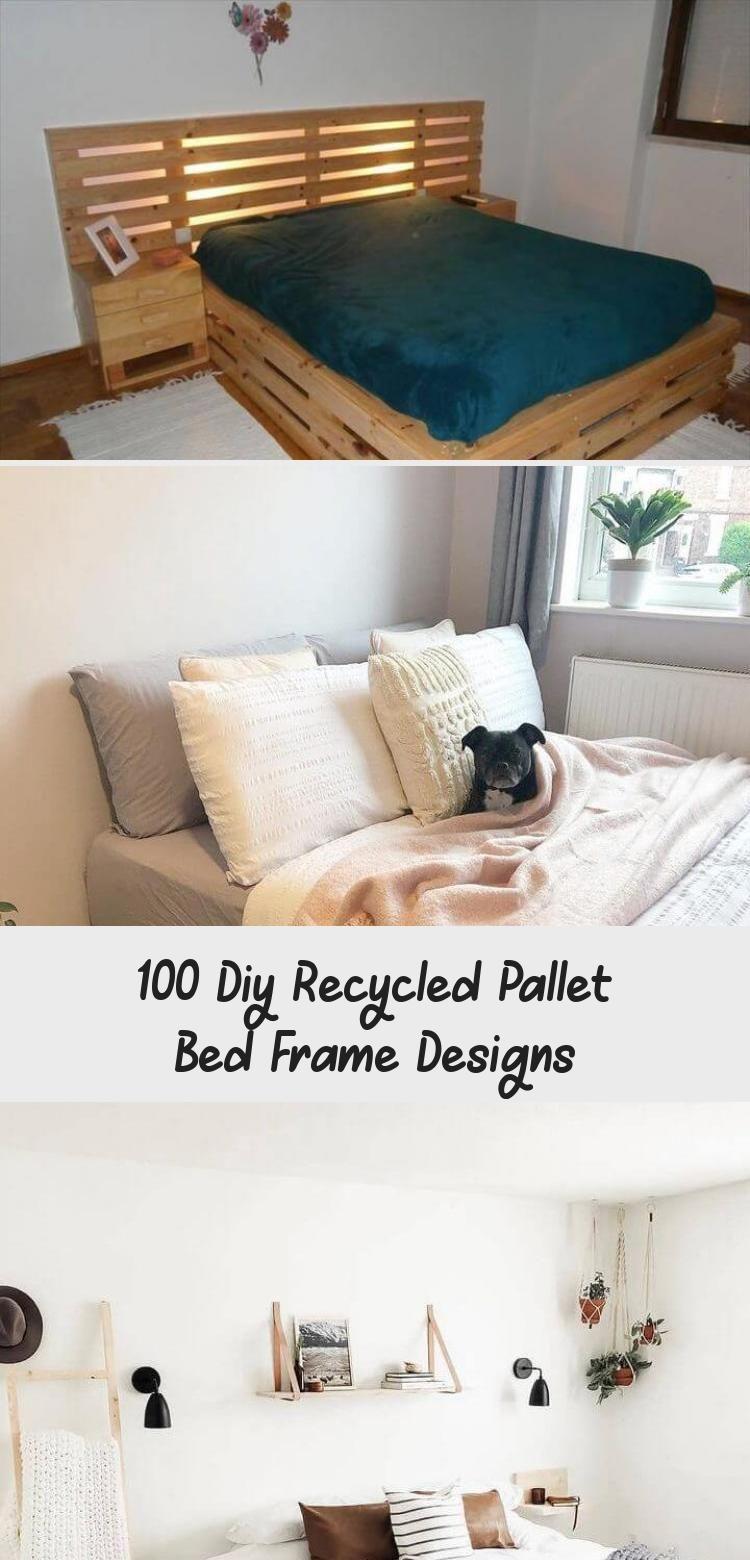 Mein Blog  42 DIY recycelte Palettenbettrahmen Designs #HomeDecorDIYRecycle  #Blog #mein
