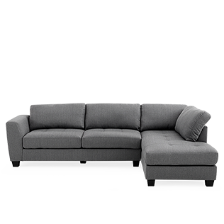 Divan Sectionnel En Tissu Gris Brault Martineau Sectional Couch Couch Sectional