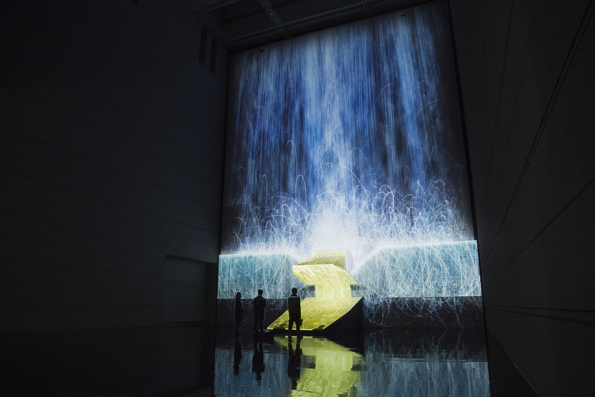 Digital Waterfalls With Projection Mapping Projection Mapping - Projection mapping turns chapel into stunning work of contemporary art