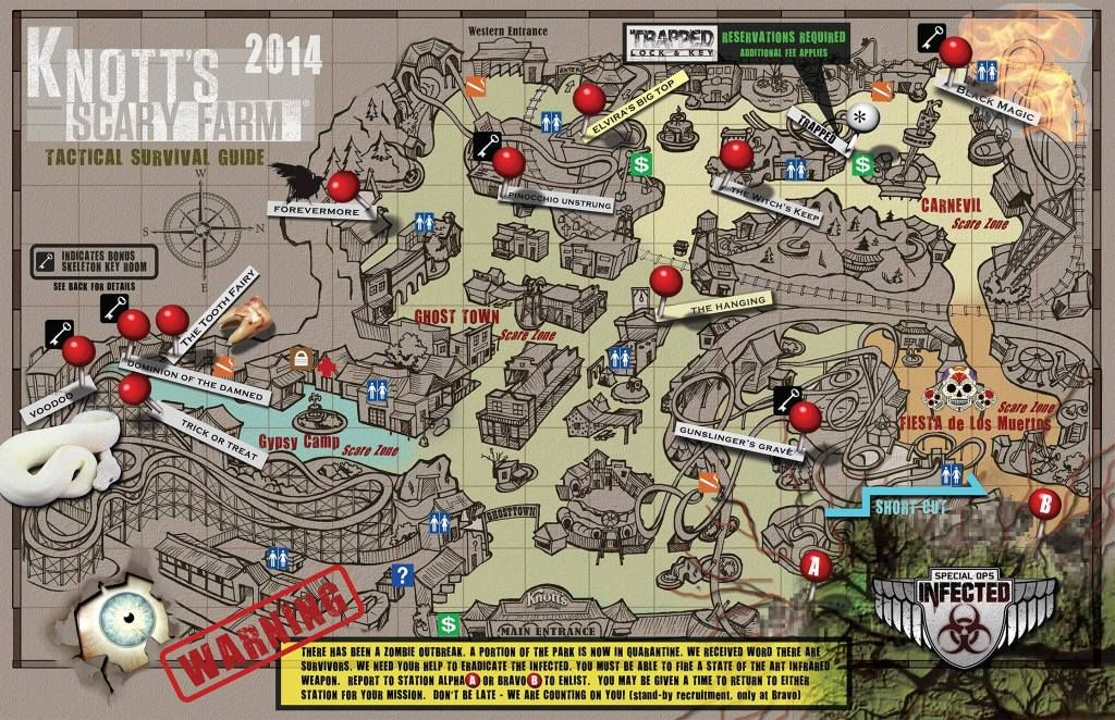Knotts Scary Farm Map 2014 Knott's Scary Farm Map | Haunts   Knott's Scary Farm | Scary  Knotts Scary Farm Map