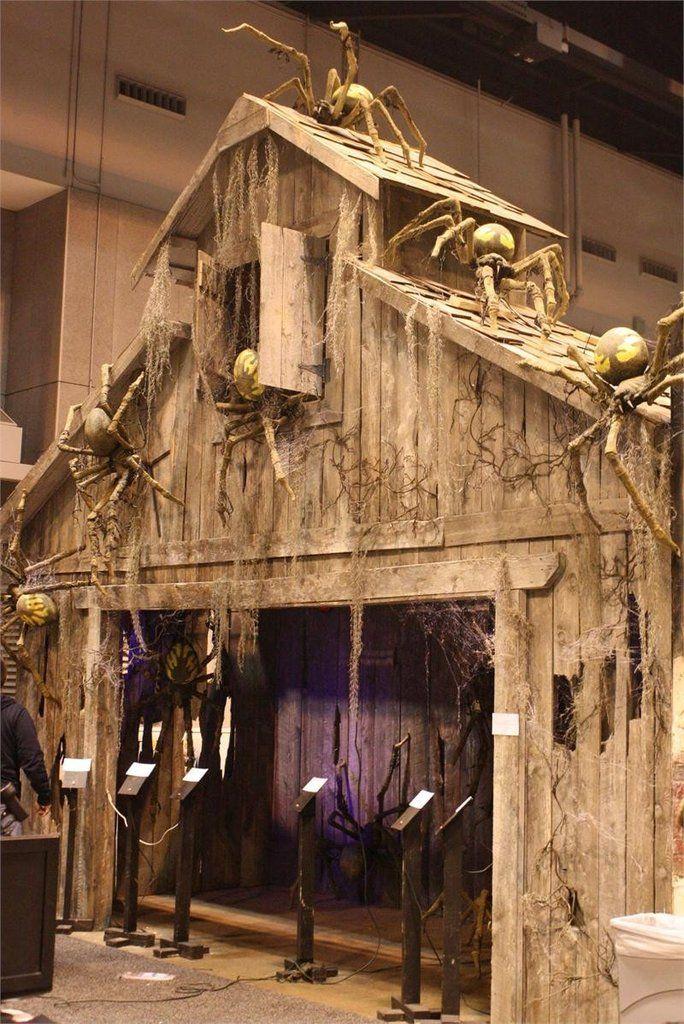 Haunted Barn Entrance Facade Halloween Decorations