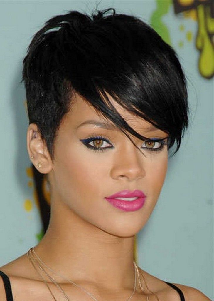 Black Short Hairstyles 2015 Rihanna Hairstyle # 2  In The Eye Of The Beholder Pinterest